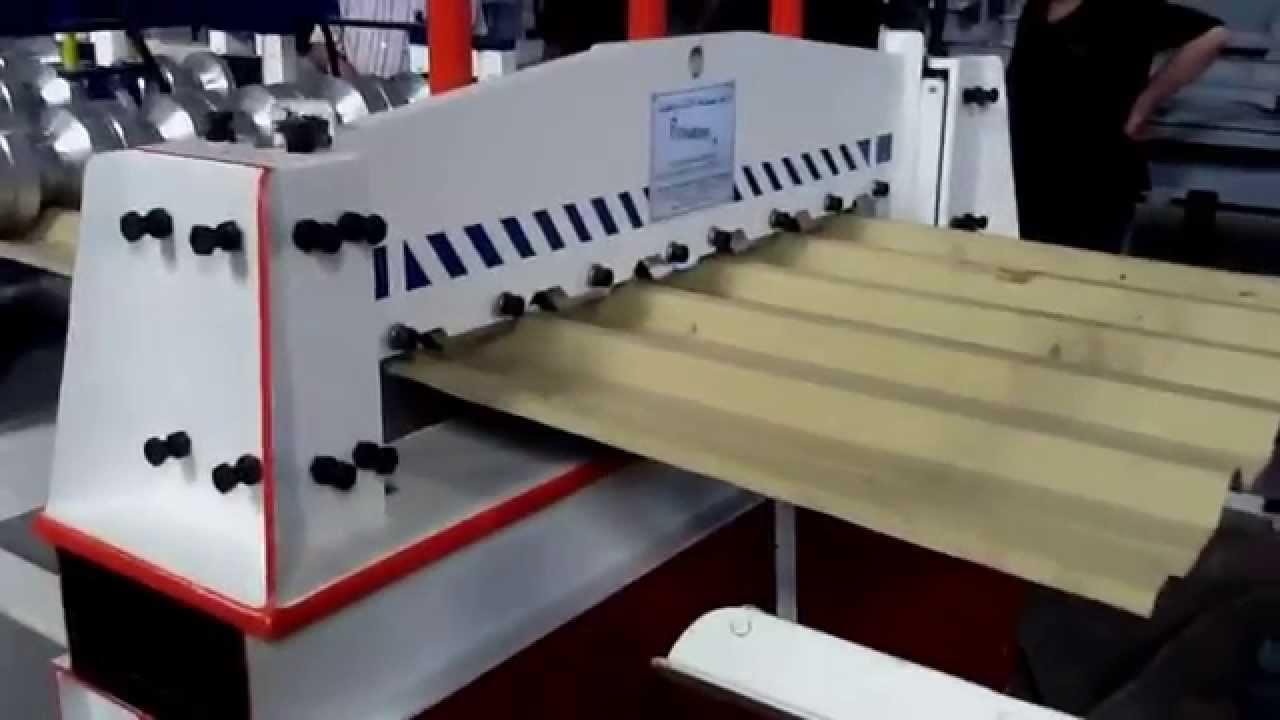 Colour coated sheets manufacturing process - G I Corrugated Sheet Machine