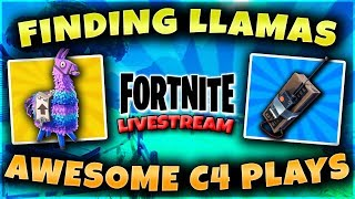 Fortnite Battle Royale Best C4 Plays and Finding Llamas!  488 Total Wins PS4 PRO Guided_Youtube
