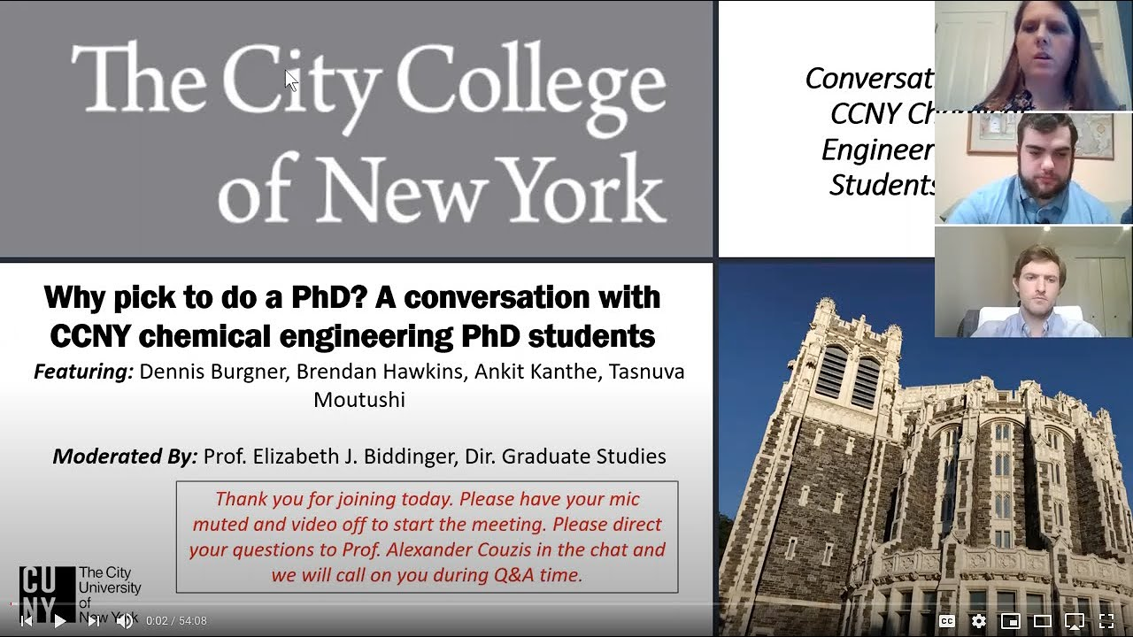 Ccny Calendar Fall 2022.Ph D In Chemical Engineering The City College Of New York