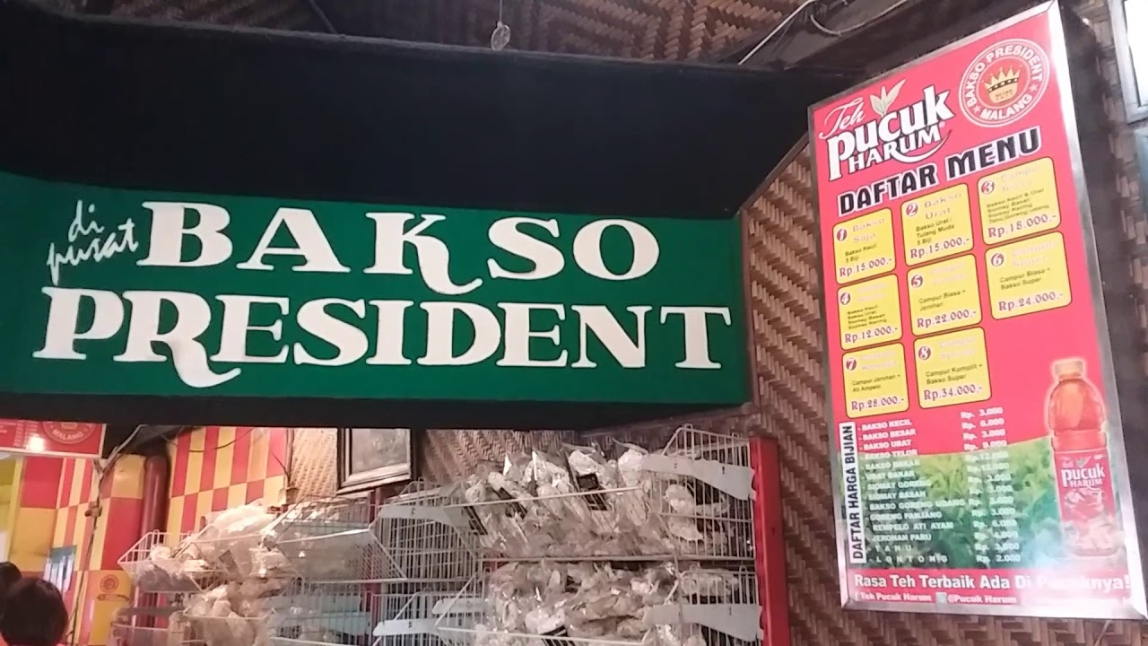 Bakso President Malang East Java Indonesia Youtube