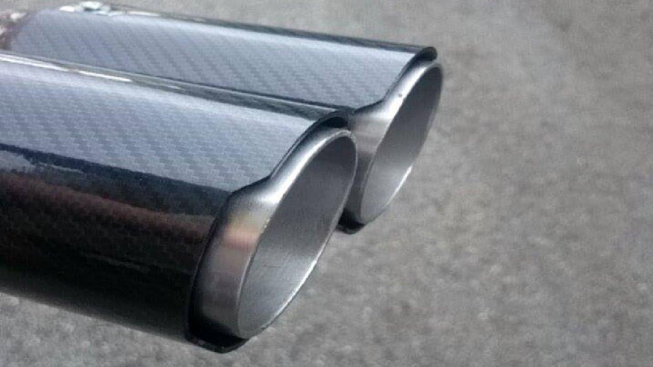 ★diy★ carbon fiber look exhaust tips youtube