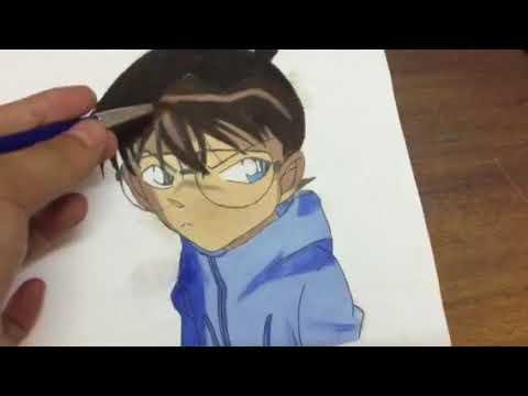 Tranh conan movie :15 (em mình vẽ)