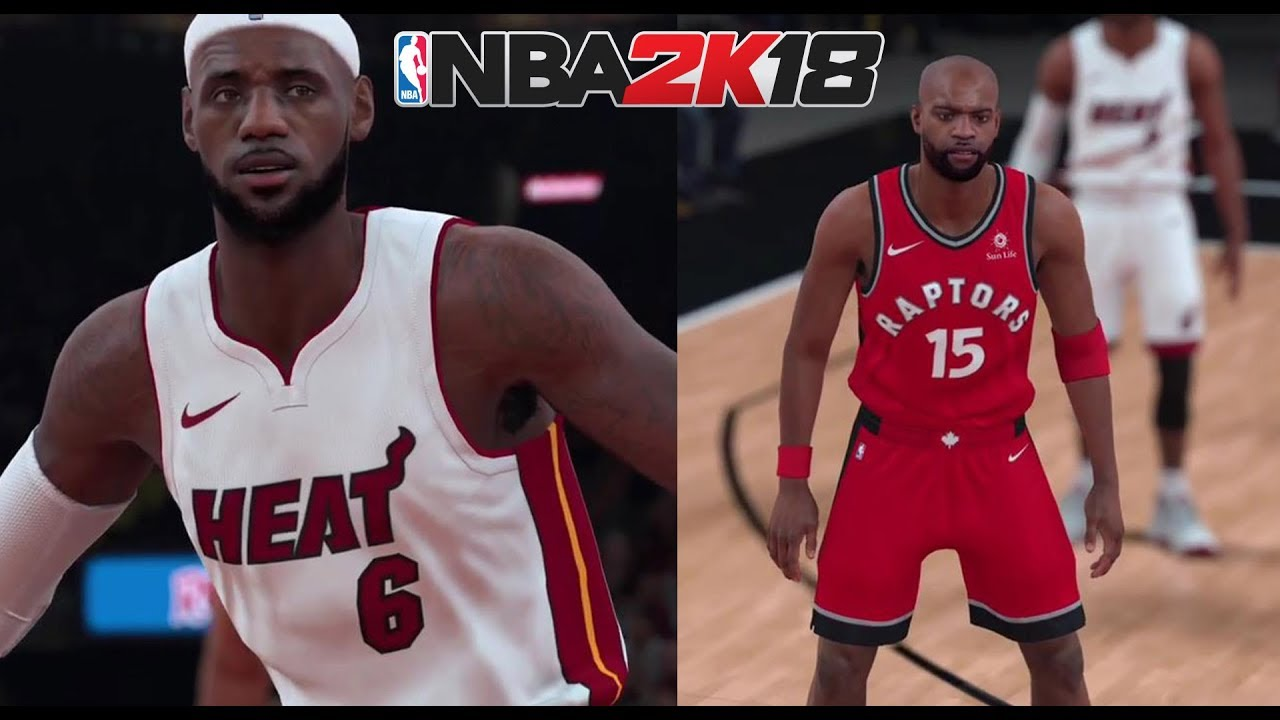 NBA 2K18 All-Time Miami Heat vs All-Time Toronto Raptors Gameplay - LeBron  James   Vince Carter 272108c3a