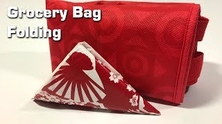How to fold Grocery bags for storage