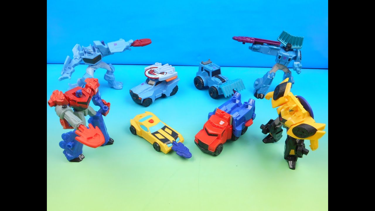 2016 TRANSFORMERS ROBOTS IN DISGUISE SET OF 8 McDONALDS HAPPY MEAL