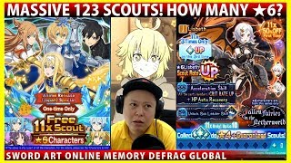MASSIVE 123 Scouts - Halloween Earth Lisbeth Rate Up & Zero Diamond Scouts! (SAOMD Memory Defrag)