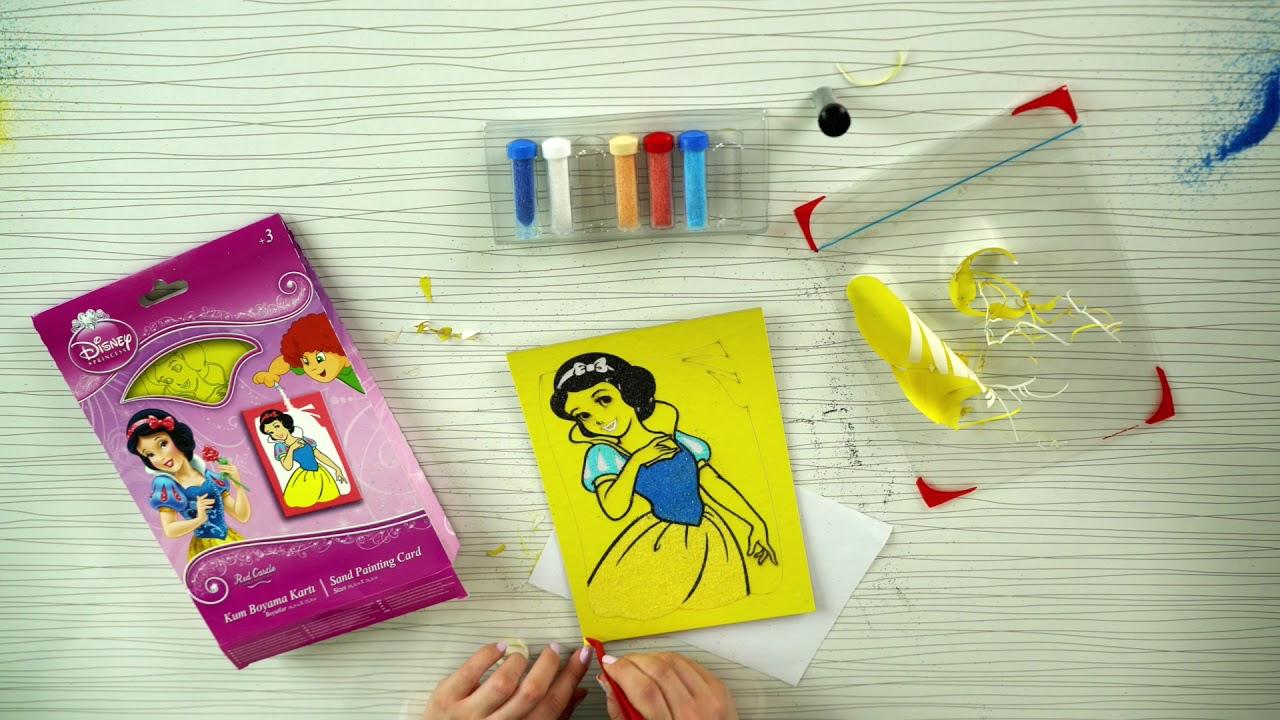 Kum Boyama Aktivitesi Ve Kutu Açılımı Disney Princess Sand
