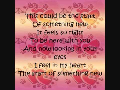 Lyrics to the start of something