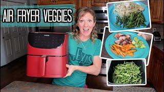 EASY AIR FRYER RECIPES WITH VEGGIES | HEALTHY & FAST COOK WITH ME | FRUGAL FIT MOM FOOD