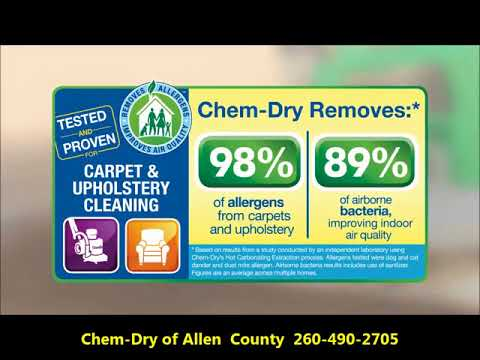 Video Overview our unique carpet cleaning method - Chem-Dry of Allen County  260-490-2705