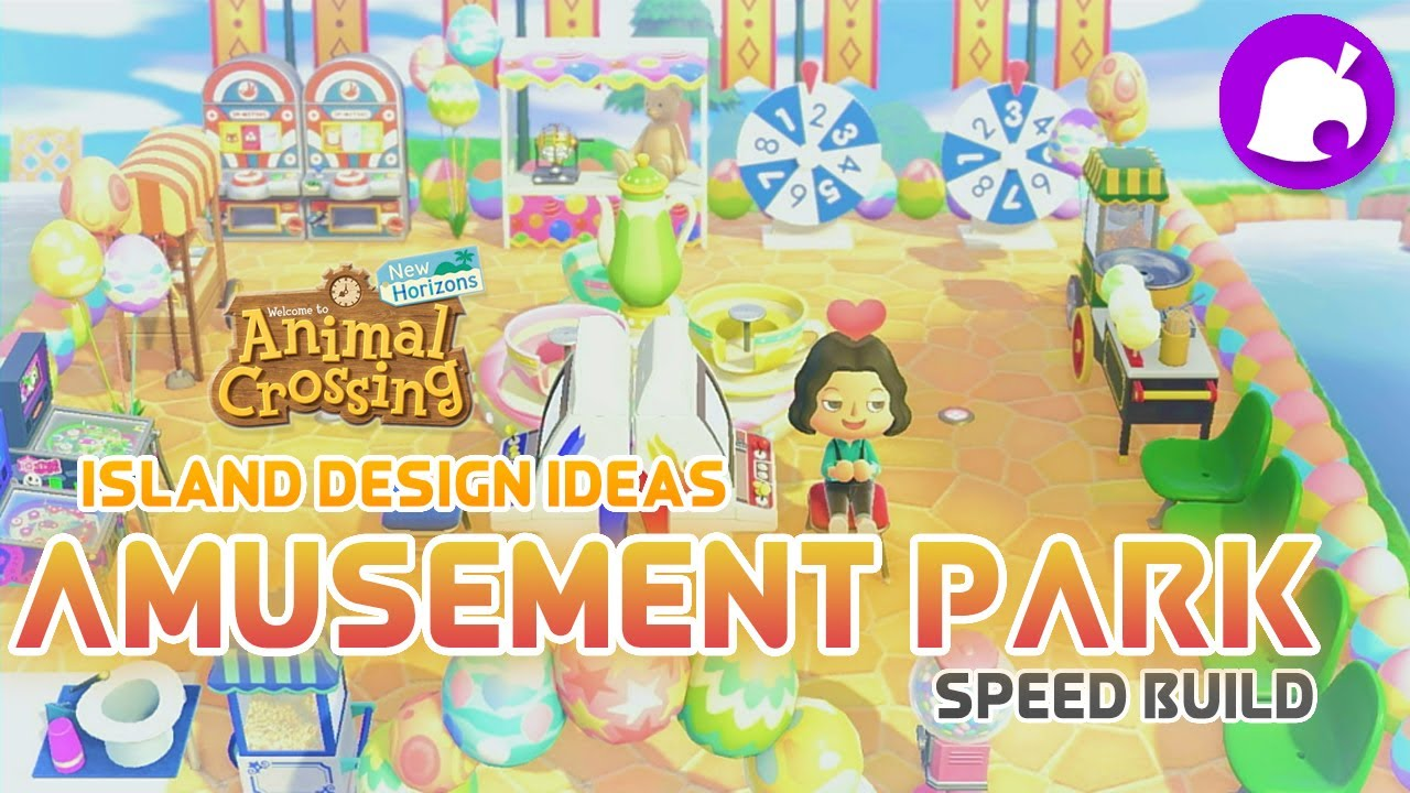 ACNH Easy Island Design - Amusement Park Speed Build ...