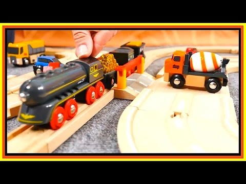 toys-demo---brio-cars-&-trains---barrier-rules!-toy-railway-trains-&-trucks-videos-for-kids