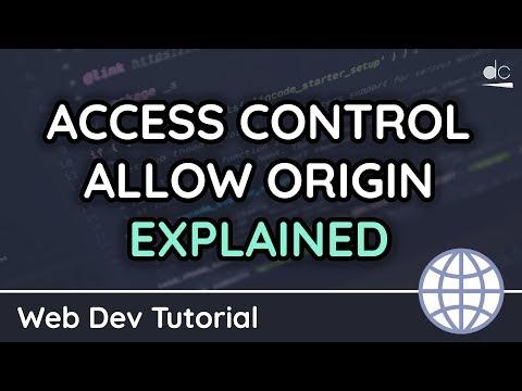 Access-Control-Allow-Origin Response Header Explained (CORS) - HTTP/Web Tutorial