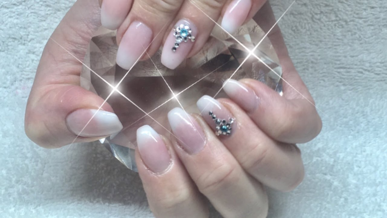 Baby Boomer Gel Nails(French Fade) - YouTube