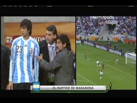 Cara de Maradona. Argentina 0 vs Alemania 4 sudafrica 2010
