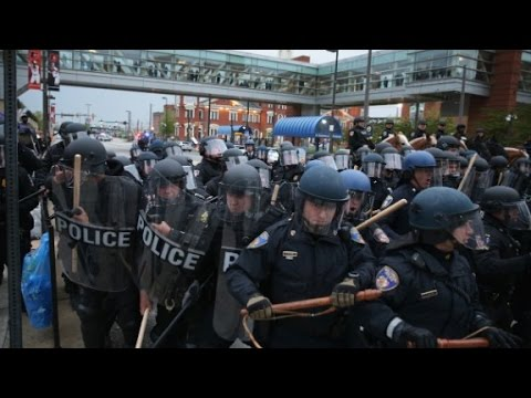 Freddie Gray protests get violent