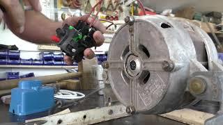 Простой запуск движка от стиралки, правильно зачищаем кабель бокорезами