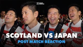 The best post-match interview we've ever done! || Japan vs Scotland - Rugby World Cup reaction