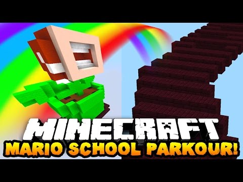 Minecraft MARIO PARKOUR SCHOOL! | With PrestonPlayz