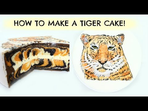 How To Make A Tiger CAKE with Edible Paint!