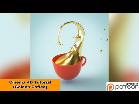Golden Coffee (Cinema 4D - Tutorial)