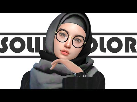 Simself Black-ish 🖤 | CAS Solid Color | The Sims 4 Indonesia