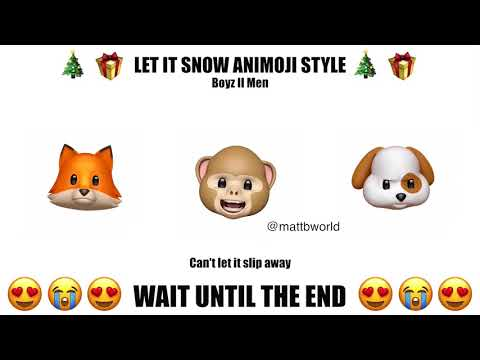 Epic Animoji Karaoke: Let it Snow Boyz II Men