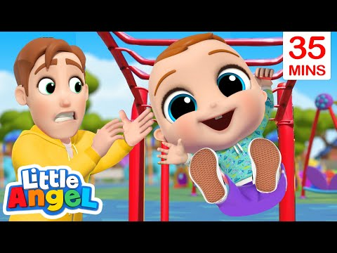 Play Safe At The Playground + More Little Angel Kids Songs & Nursery Rhymes
