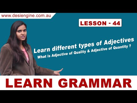 Lesson - 44 Learn Different Types of Adjectives | Learn English Grammar | Desi Engine India