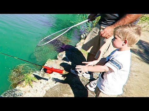 TODDLER FISHING FAIL!