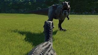 Baryonyx VS T-Rex - Jurassic World Evolution