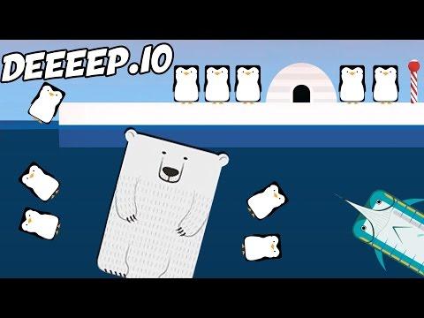 Deeeep.io NEW Best Animal!  POLAR BEAR  (Deeeep.io Gameplay Highlights