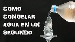 Como Congelar Agua en un Segundo - Hielo Instantaneo (Experimentar En Casa) thumbnail