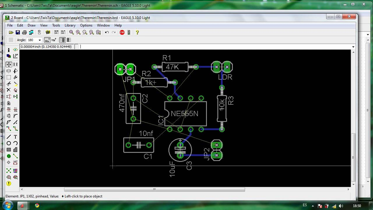 Tutorial Diseño PCB con Eagle Parte 3 : Layout - YouTube