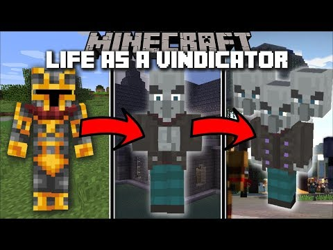 Minecraft LIFE AS A VINDICATOR MOD / FIND OUT WHAT IS IT LIKE TO BE A VINDICATOR !! Minecraft thumbnail