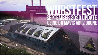 Wurstfest Construction Update - September 2020 (Drone in #NewBraunfels)