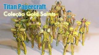 Coleção Gold Saints Papercraft