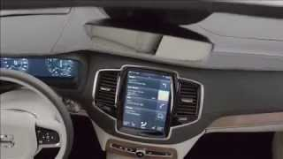 All-new Volvo XC90 with touch screen and head-up display.