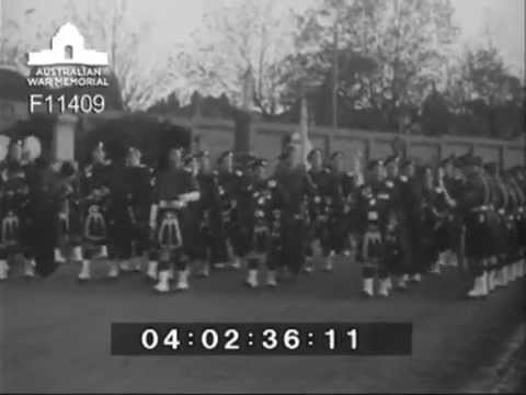 Funeral of LTGEN Sir Stanley Savige - Guard of Honour by the 5th BN Victorian Scottish Regiment 1954