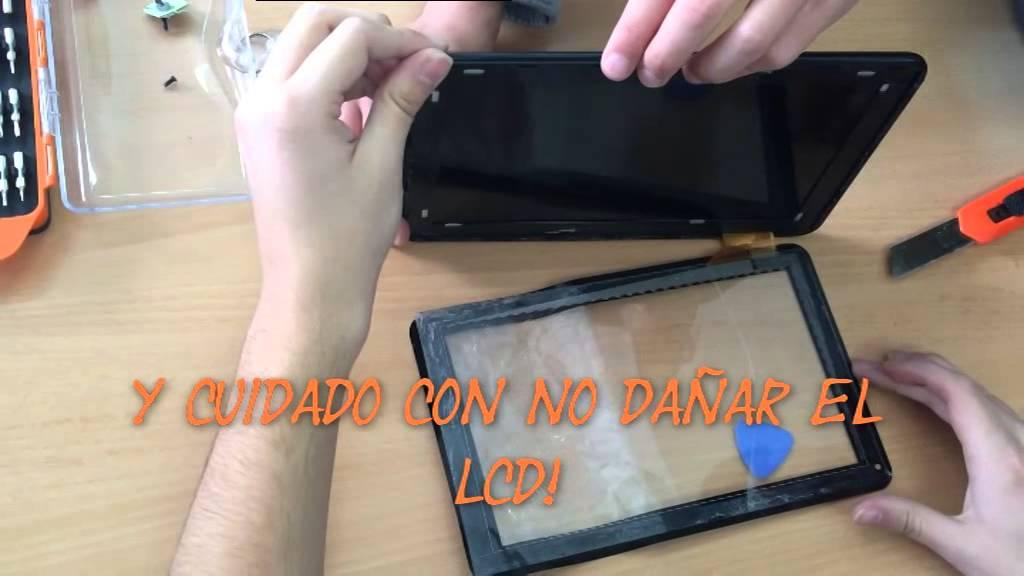 Como cambiar pantalla de tablet - YouTube