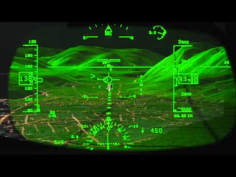 Rockwell Collins Head-up Guidance (HGS) Demo -- It