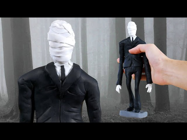 Making SLENDERMAN in POLYMER CLAY!💀