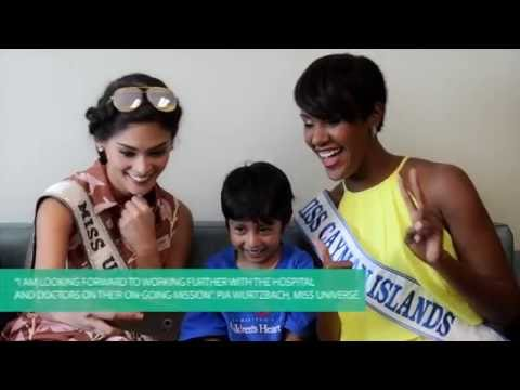 Miss Universe visits Health City Cayman Islands