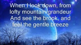 How great thou art... LDS hymn