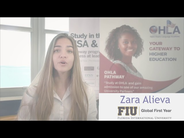 Zara from Uzbekistan accepted into FIU through OHLA Pathway
