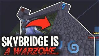 MY SKYBRIDGE IS A WARZONE... LIVING IN A SKYBRIDGE #3 | Minecraft HCF