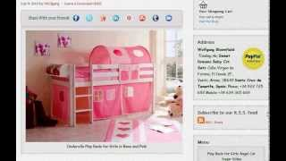 Cinderella Play Beds For Girls With Slide In Rose And Pink