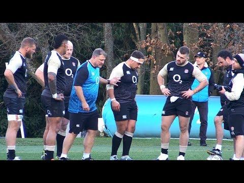 England Rugby Squad Train Ahead Of Six Nations Game Against France
