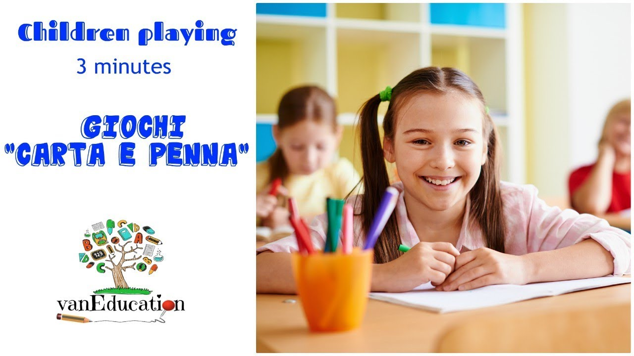 Giochi Carta E Penna Children Playing 3 Minutes By