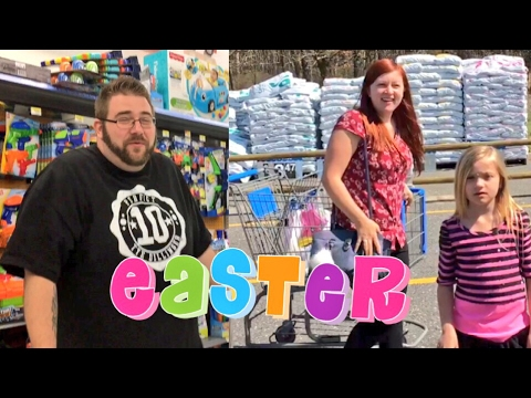 EASTER BASKET SCAVENGER HUNT GONE WRONG! FAT MAN ACTING CRAZY IN WALMART!
